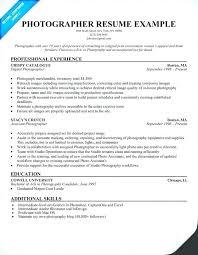 Photographer Resume Objective Freelance Photographer Resume Resume For Photographer Freelance 20