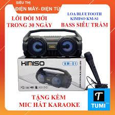Loa Bluetooth KIMISO KM-S1 Chính hãng - Tặng kèm Mic hát Karaoke