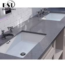 dark grey quartz stone counter top