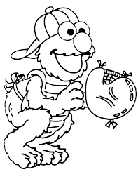 Small Picture Elmo Into A Baseball Catcher Elmo Coloring Pages Pinterest