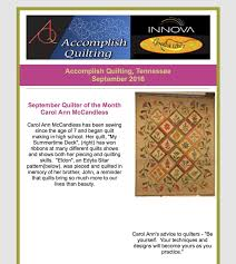 Tennessee Newsletters - Accomplish Quilting & Picture Adamdwight.com