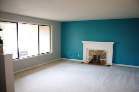 blue accent wall fireplace