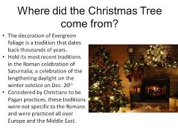 Christmas Tree Talk  Where Did Our Tree Come From  Christmas Where Did The Christmas Tree Tradition Come From