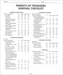 parents of teenagers survival checklist troy center for transition picture