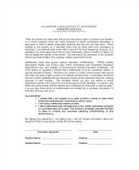 Volunteer Agreement Template Confidentiality Templates Free Sample ...