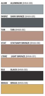 Bhma Finish Chart Lcn 1070 18 Drop Plate