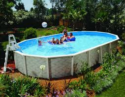 Portable Oval Fiberglass Above Ground Pools Kids Friendly With