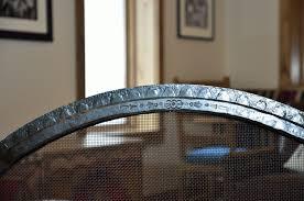 ironwork kiva fireplace screen forged steel taos nm blake