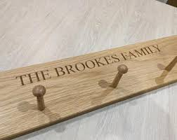 Personalised Coat Rack Oak coat rack Etsy 21