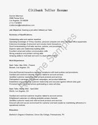 Ideas Of Entry Level Bank Teller Resume Example With Nice Work