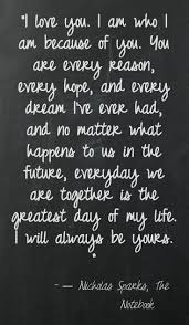 "The Vow Quotes Inspiration Quote Saying About Dating ""I Love You I Am Who I Am Because Of"