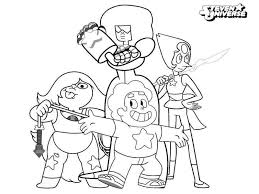 Steven Universe Coloring Pages Pearl Garnet Get Coloring Page