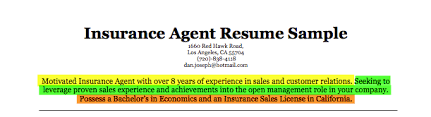 just remember that each career objective should be tailored to respond to that specific position below weve included a picture of a sample insurance sample insurance resume