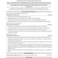 Resume Hr Generalist Cool Sample Manager Free Career Inside For