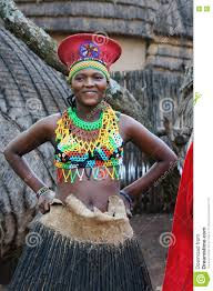 lesedi cultural village south africa 20 october 2016 zulu woman wearing handmade clothing at lesedi cultural village in south africa