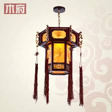 wood lantern chandelier lanterns wood carved antique chandelier classic lantern lamp corridor restaurant balcony aisle lights