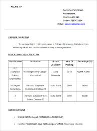 Simple Resume Format Cool Simple Resume Template 60 Free Samples Examples Format Download