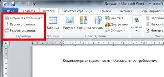Как пронумеровать страницы в ворде и без  Титульная страница реферата