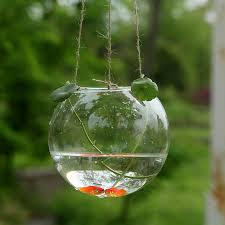 Decorative Hanging Glass Balls Interesting New Arrival Crystal Goldfish Bowl Hydroponics Vase Hanging Glass