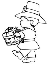 Small Picture Pilgrim And Indian Thanksgiving Coloring Pages Children