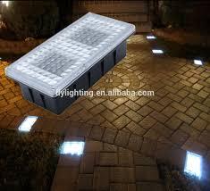 Brick Paver Lights 12v Outdoor Paver Brick Light For Landscape Lighting Solar Led Brick Light For Garden Wall Led Brick Paver View Solar Led Brick Light Deck Yard