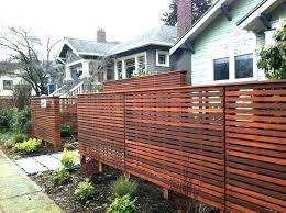 Horizontal Fence Designs Modern Horizontal Fence Horizontal Slat Enchanting Backyard Fence Designs