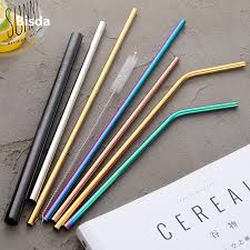 <b>100pcs</b> Stainless <b>Steel</b> Drinking Straw Wholesale Reusable Straw ...
