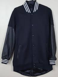 dehen x adidas varsity wool leather jacket black white rare size large