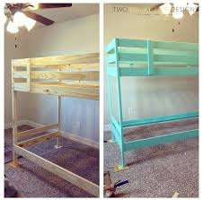 beds painted bunk beds bed kids rooms two thirty five designs chalk