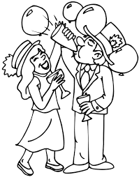 Small Picture new years coloring pages New Years Eve coloring page of people