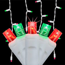 Home Depot Christmas Icicle Lights Wintergreen Lighting Softtwinkle 6 5 Ft 70 Light Led Red And Green Icicle Light Set