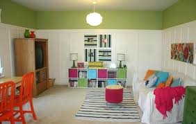 wide shot of playroom 2 story living room what size chandelier for the two family trend