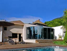 Collection Of Glass Veranda With Pool Ideas