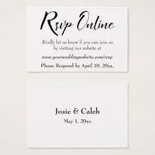 Wedding Rsvp Online Insert Black Script White 13