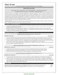 Sample Analyst Resume Financial Analyst Resume Sample Best Of Credit Risk Analyst Resumes