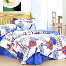 guitar bedding set bedding set blue white and orange theme kids roman guitar and guitar bedding set