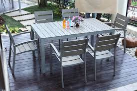 wooden outdoor furniture painted. Contemporary Outdoor Furniture Design Using Grey Color With Wooden Material In Deck Flooring Patio Painted N