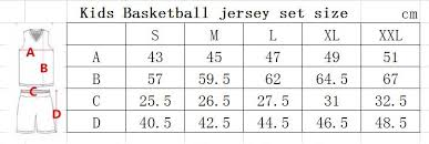 Kids Jersey Size Chart Us 12 83 16 Off 2018 New Kids Boys Double Sided Basketball Jersey Uniforms Child Sports Clothing Boys Girls Basketball Shorts Shirts Sets Diy In