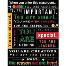 When You Enter This Classroom Subway Art Chart Tcr7545