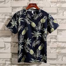 2019 Men <b>women summer</b> slim fit business casual Hawaii floral shirt ...