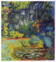 corner of water lily pond claude monet oil painting replica