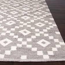 flat woven area rugs best of flat weave geometric pattern grey ivory wool area rug