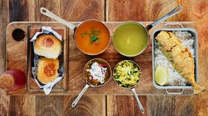 kitchen table with food. The Kitchen Table. Goan Fish Thali Table With Food H