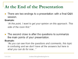 how to present a paper at an academic conference ppt  at the end of the presentation