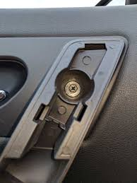 inside car door handle. Now We Will See Two Bolts Exposed Inside This Handle. Unscrew Them. Heres The Top Screw (you\u0027ll Need A Ratchet To Reach Depth Here Its Deeply Recessed) Car Door Handle