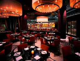 mediterranean style lighting. Hospitality Mediterranean Style Restaurant Interior Design Of Todd English\u0027s Olives, Las Vegas Lighting Decor