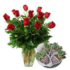 a dozen roses with chocolate covered strawberries deliver 2 14 only