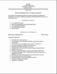 sample computer programmer resume gallery of programming resume examples