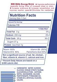 examining energy drink nutrition facts oneresult regarding red bull food label