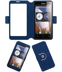 Philips W3500 Flip Cover by ACM - Blue ...